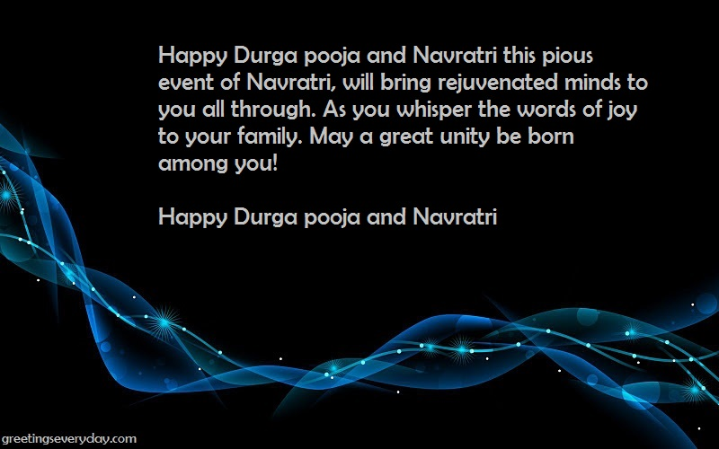 Happy Navratri Wishes Pictures & Photos in English For WhatsApp & Facebook