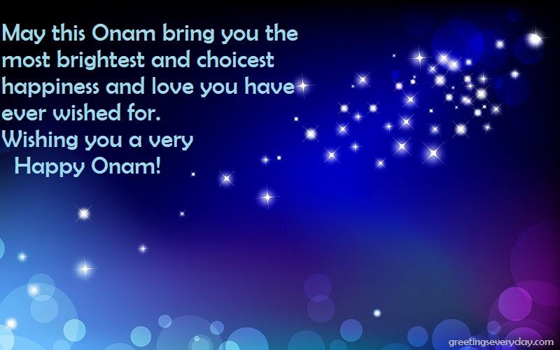 Happy Onam Wishes WhatsApp & Facebook Status, Message SMS, Quote in English