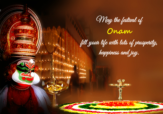 Special Happy Onam Wishes Gift Cards