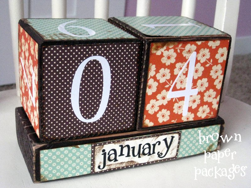 Desktop Calendar Blocks