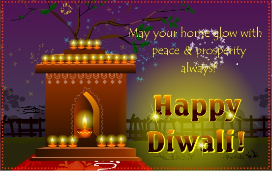 Happy Diwali /Deepavali Greeting Card For Uncle & Aunty
