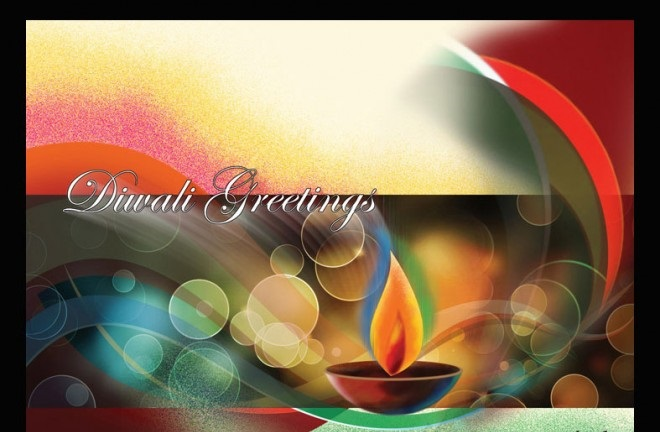 Diwali / Deepavali Wishes Greeting Card For Friend