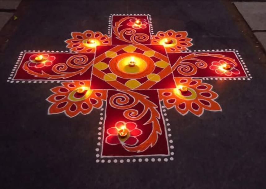 Easy Rangoli Design For New Year 2020