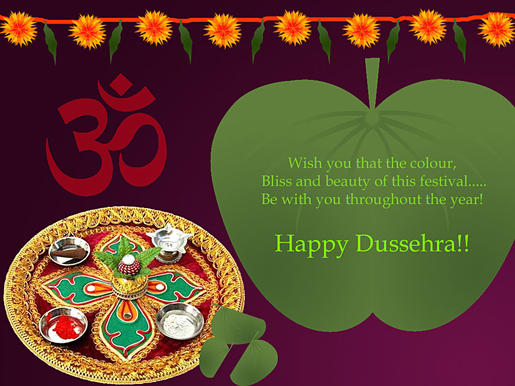 Happy Dussehra Vijayadashami Wishes Greeting Card Ecard Image
