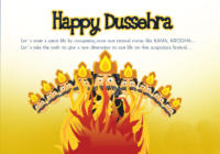 Happy Dussehra/ Vijayadashami Wishes Greeting Card, Ecard, Image & Picture in English