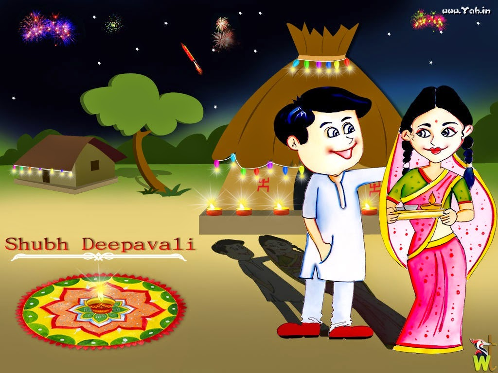 Happy Diwali 2017 Wishes Cartoon Images