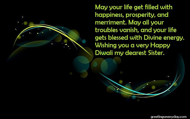 Happy Diwali Wishes, Messages & SMS For Sister