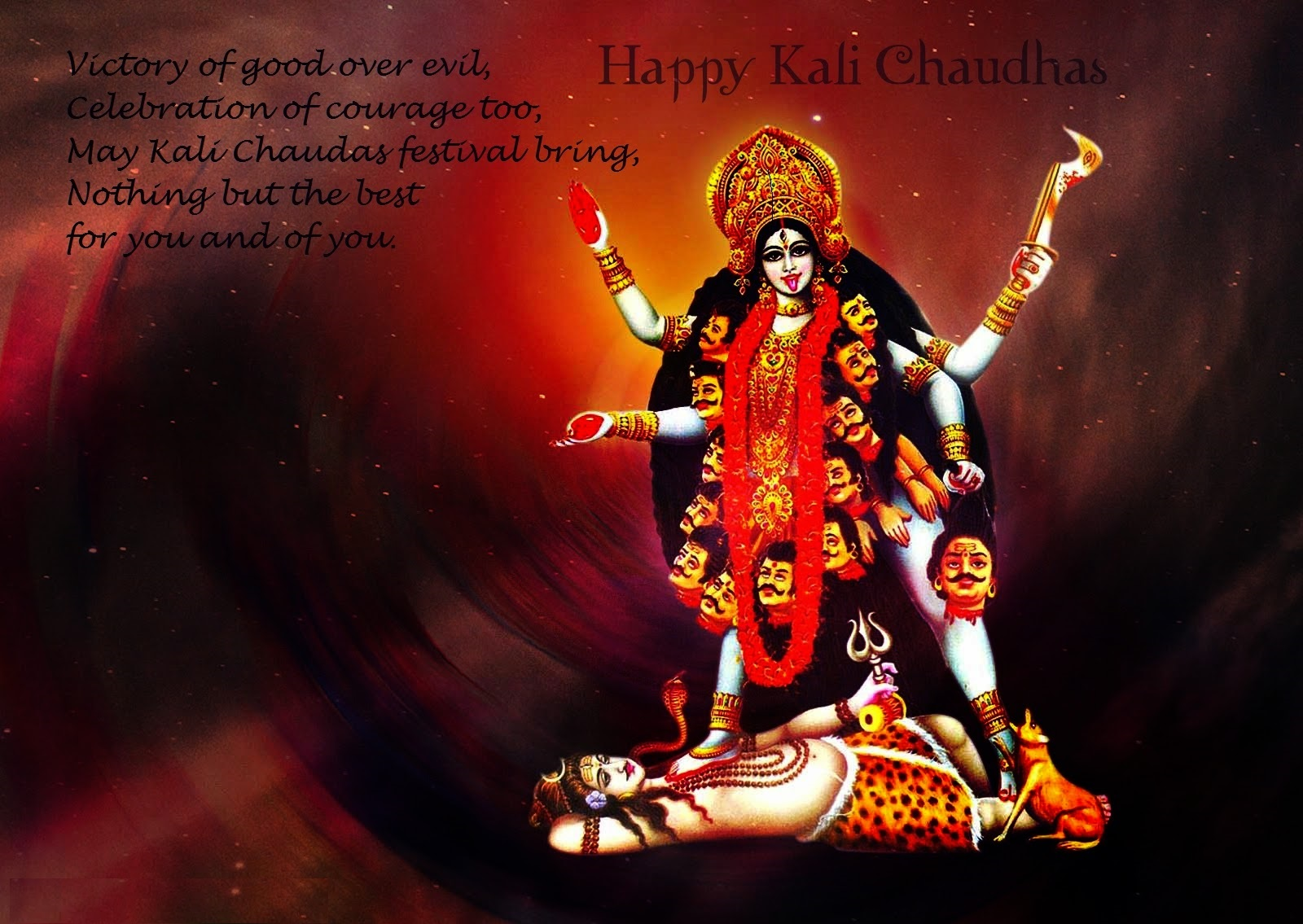 Happy Kali Chaudas Wishes Photo