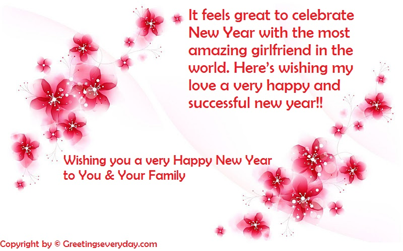 Happy New Year Wishes For Boyfriend & Girlfriend 2019