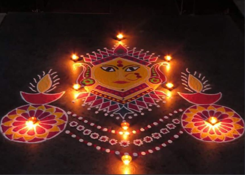 Latest Rangoli Design For Diwali & New Year