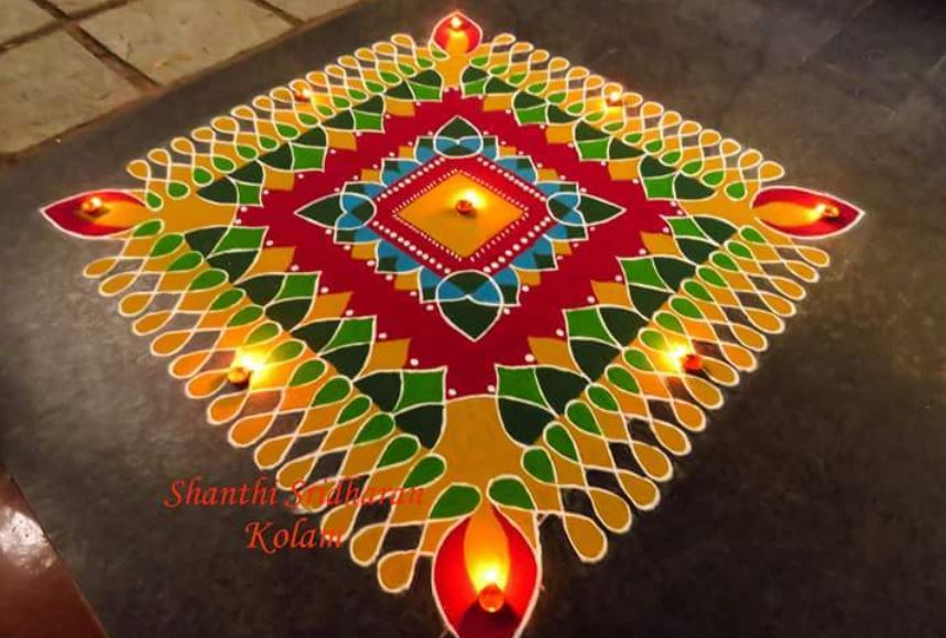 Latest Rangoli Design For Merry Christmas 2016