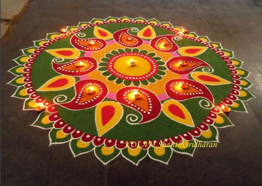 Rangoli Designs for Deepavali 2017