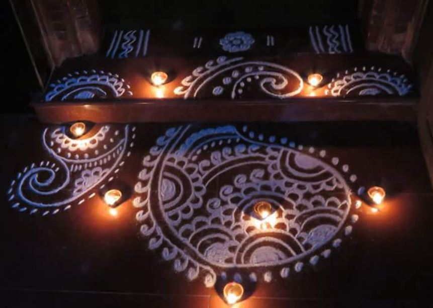 Rangoli Images with free hand For Diwali 2016