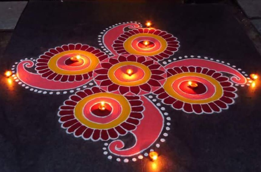 Rangoli Pattern For Diwali & New Year