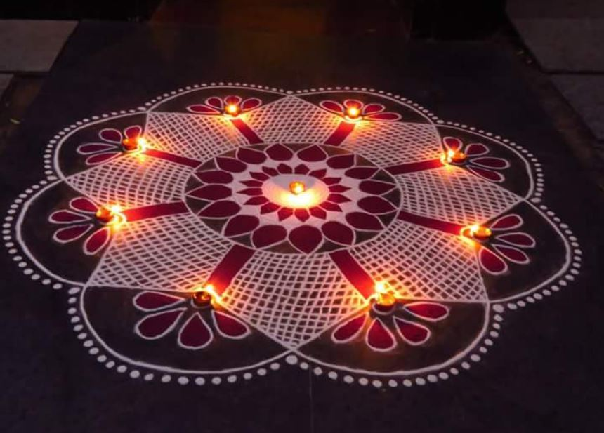 Best Rangoli Pattern For Merry Xmas 2016