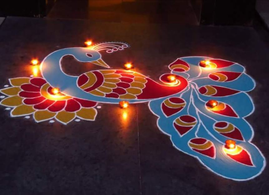 Rangoli Pattern For Merry Christmas 2016