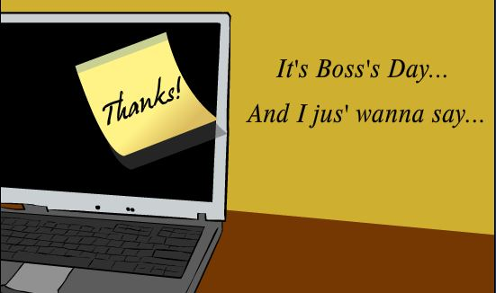 Thank You Greeting Cards For Your Boss's