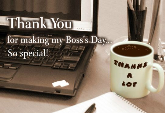 Thank You Cards of boss for the gift