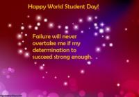 World Student's Day Wishes Greeting Card, Message, Quotes, Status & Images