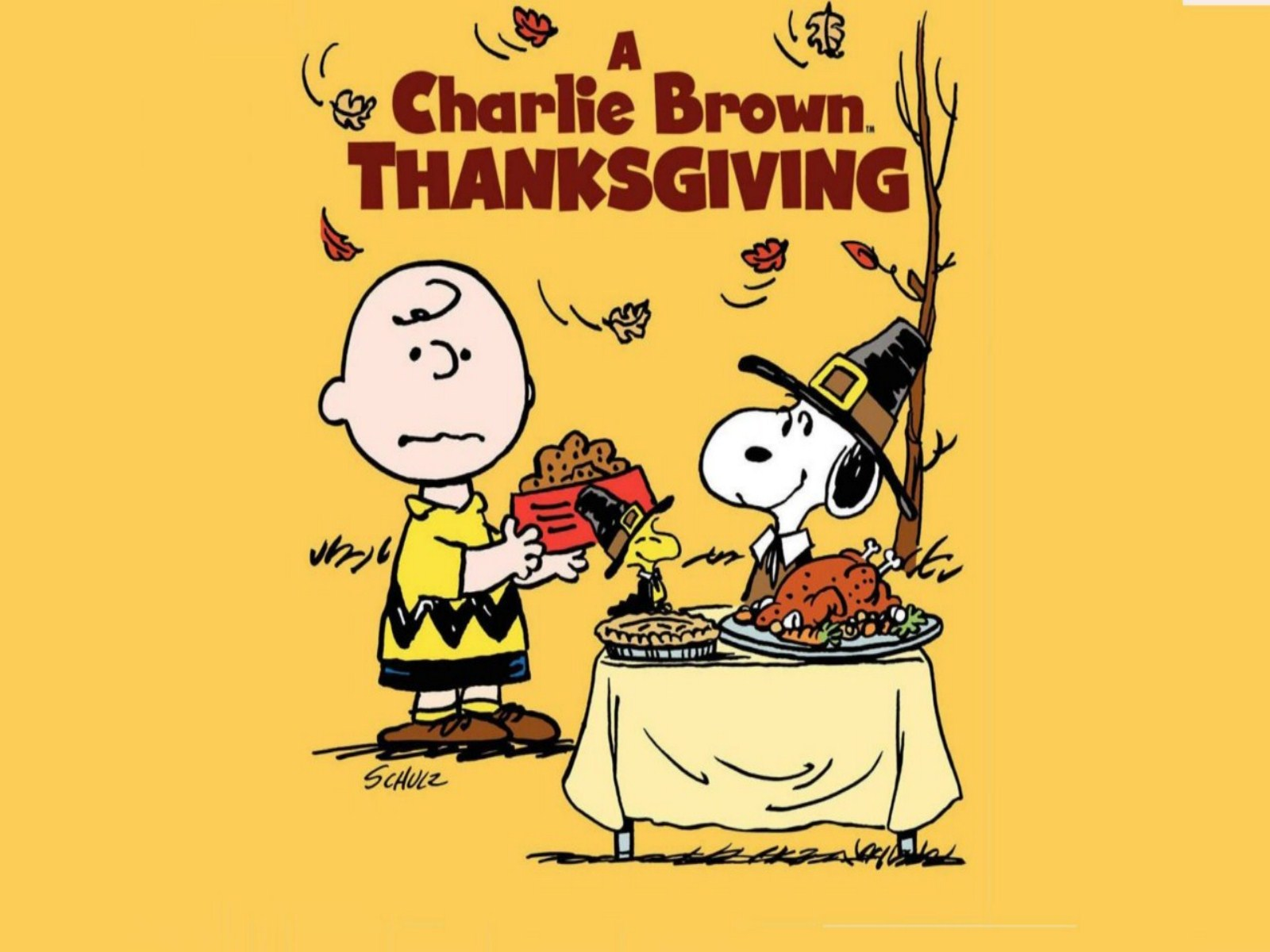 Free Thanksgiving Day Charlie Brown Backgrounds