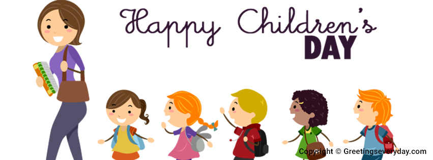 Happy Children's Day Facebook Cover Photo