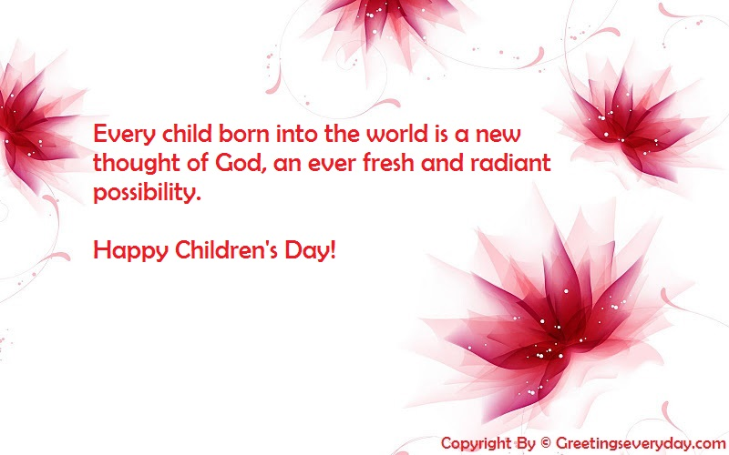 Happy Children's Day 2016 Slogans