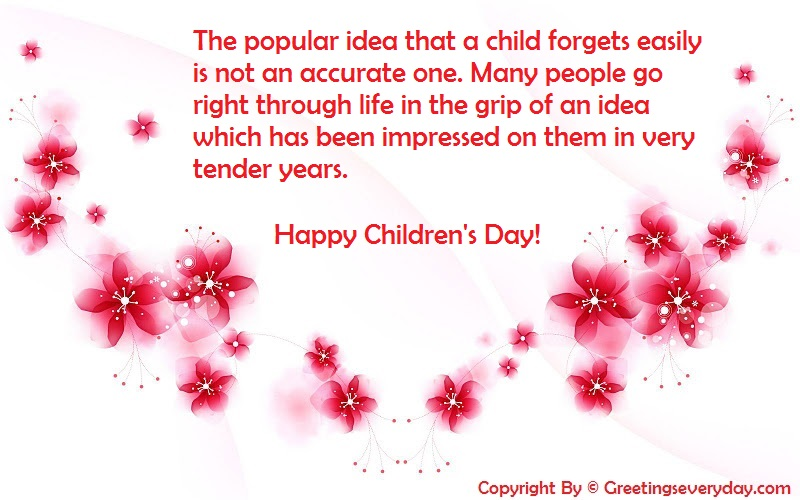 Happy Children's Day 2016 Sayings
