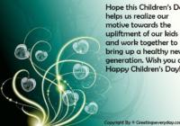 Happy Children's Day Quotes, Sayings & Slogans
