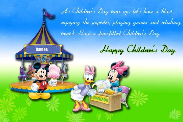 Children's Day Cartoon Image