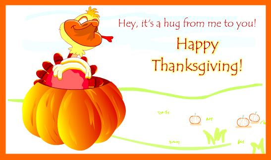 Happy Thanksgiving Day Greeting Card & Image For Brother & Sister