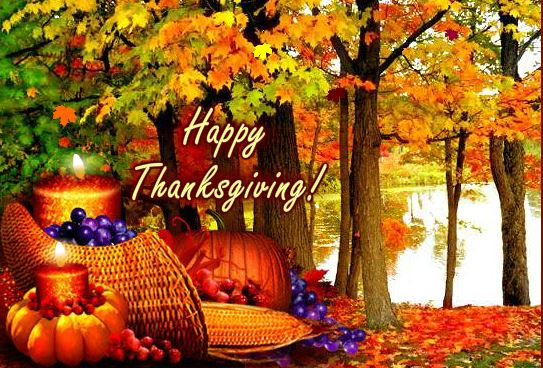 Happy Thanksgiving Day Greeting Card & Image For Mother & Father