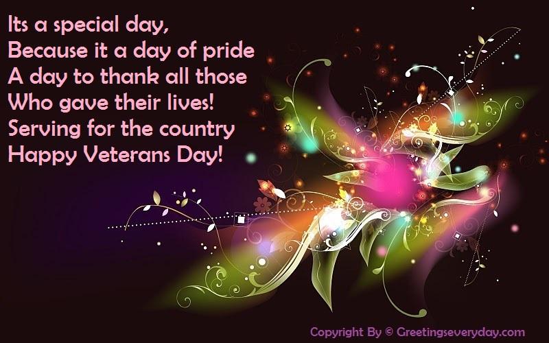 Happy Veteran's Day 2016