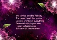 Happy Veterans Day WhatsApp & Facebook Status, Message & SMS