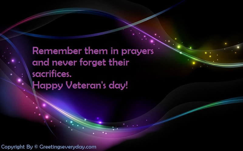 Veteran's Day Message & SMS