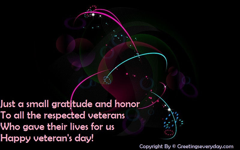 Happy Veteran's Day Wishes Message