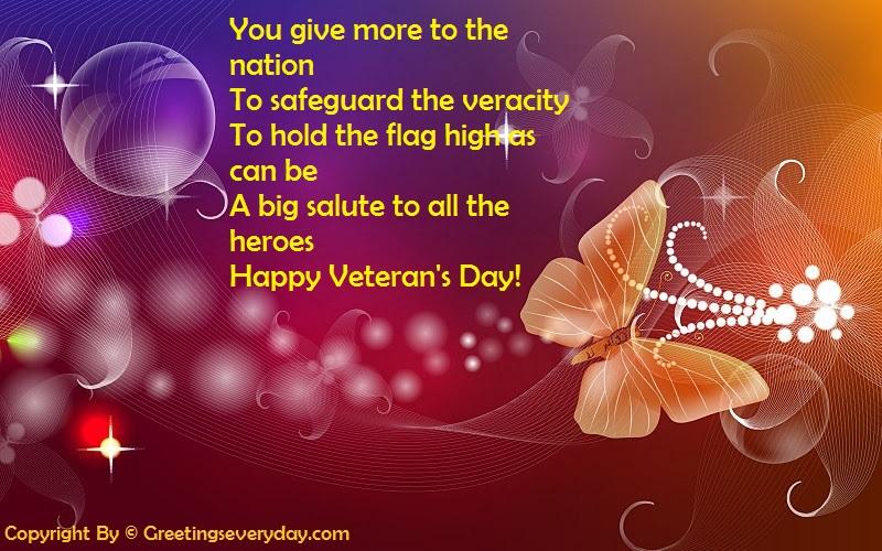 Happy Veterans Day WhatsApp & Facebook Status, Message & SMS