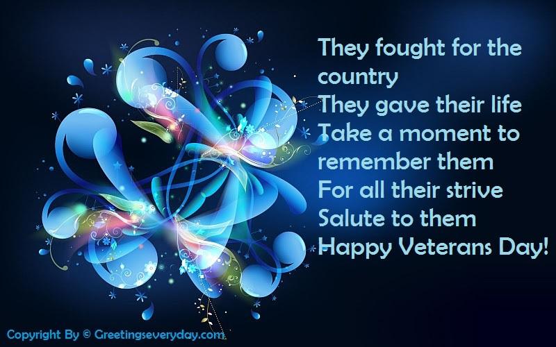 Facebook Status For Veterans Day 2016