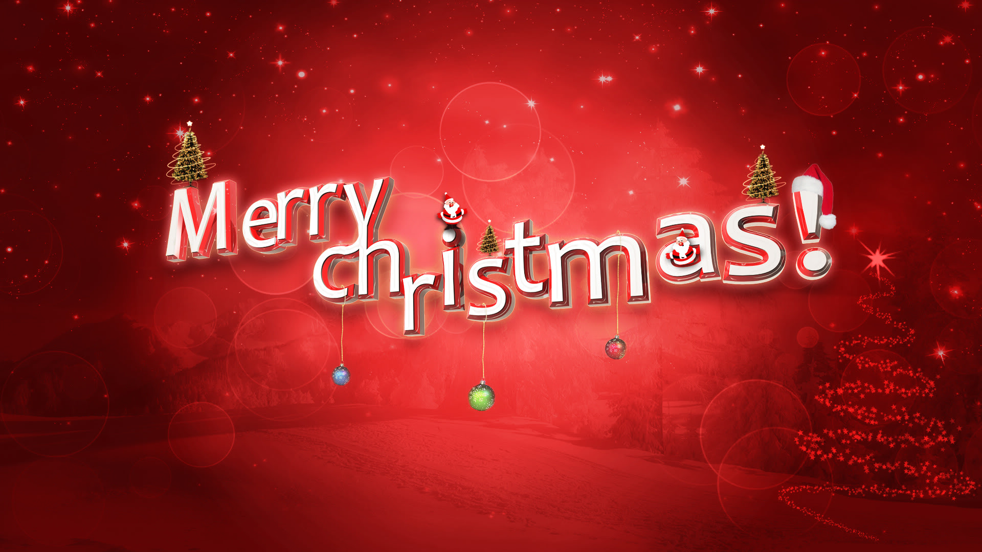Merry Christmas 2018 Animated & 3D HD Wallpapers
