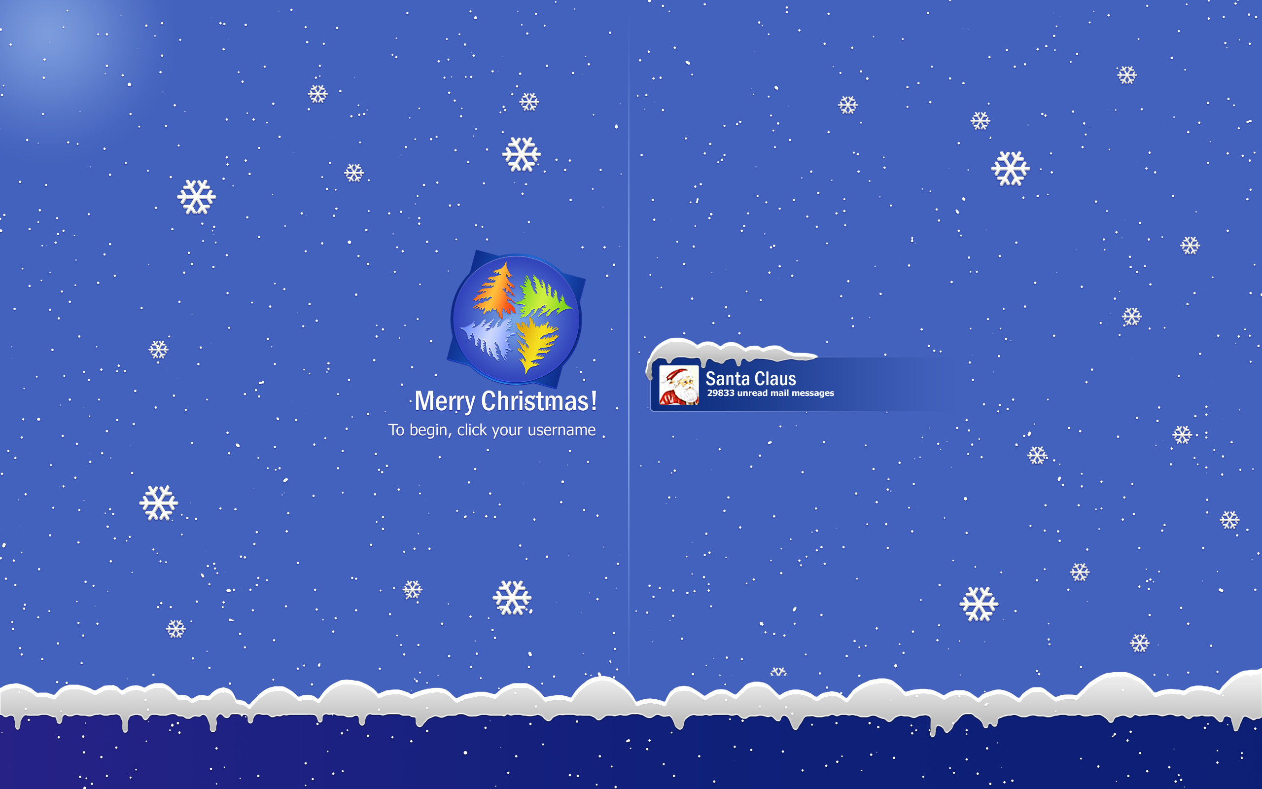 Merry Christmas Desktop Login Screen Wallpaper