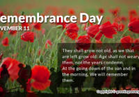 Remembrance Day WhatsApp & FB Status, Message, SMS, Quote & Slogans