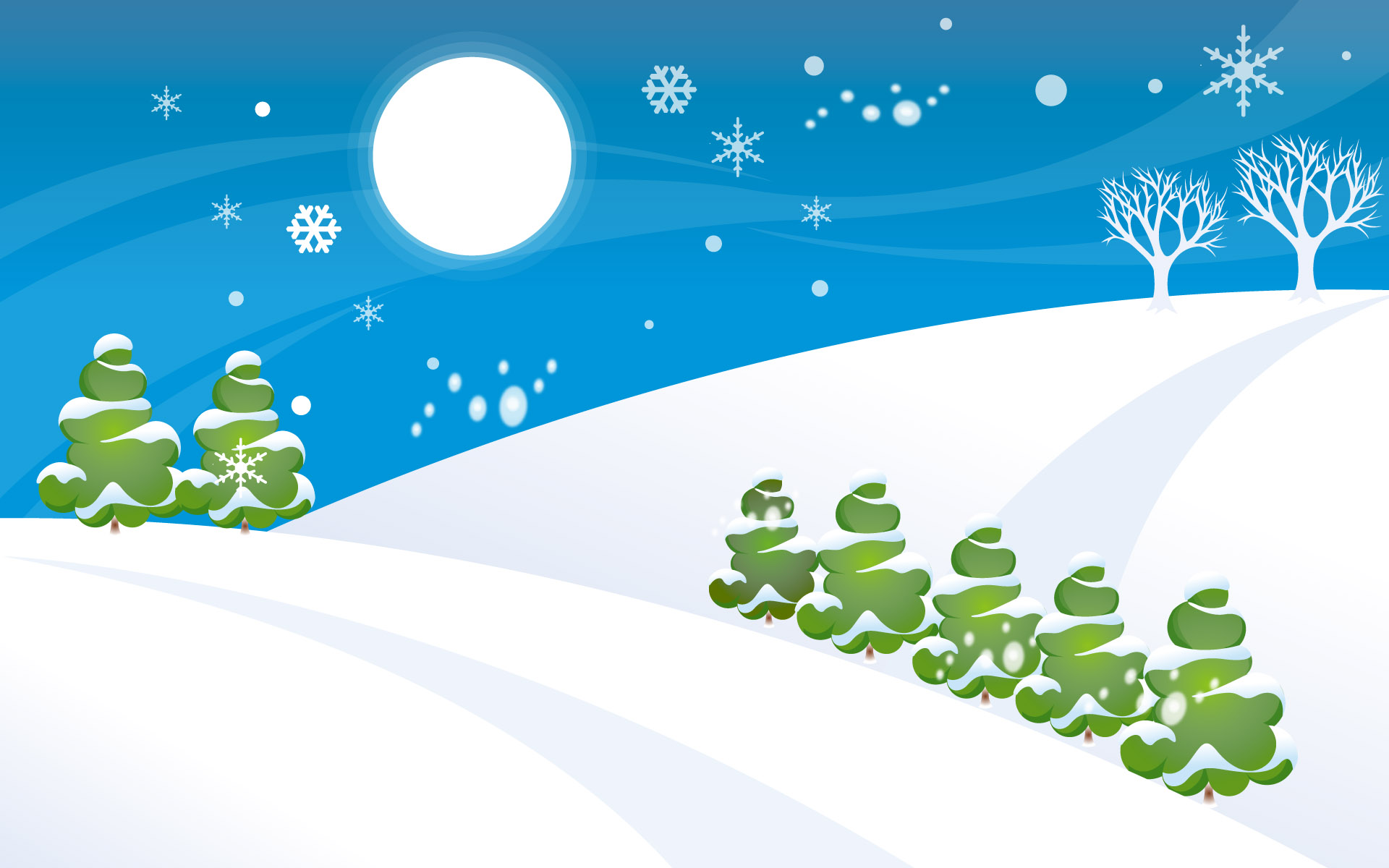 Simple Christmas Snow World Wallpaper