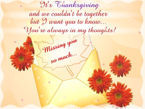 Thanksgiving Day Miss You Photo