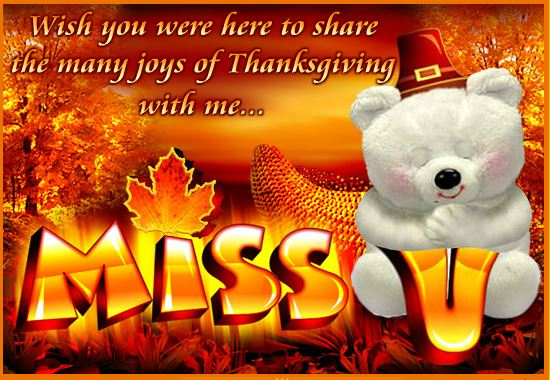 Thanksgiving Day Missing You eCard