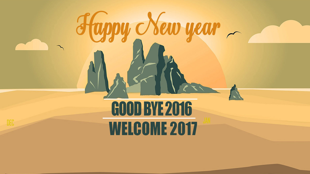 Good Bye 2017 Welcome 2018 Image with Message For WhatsApp