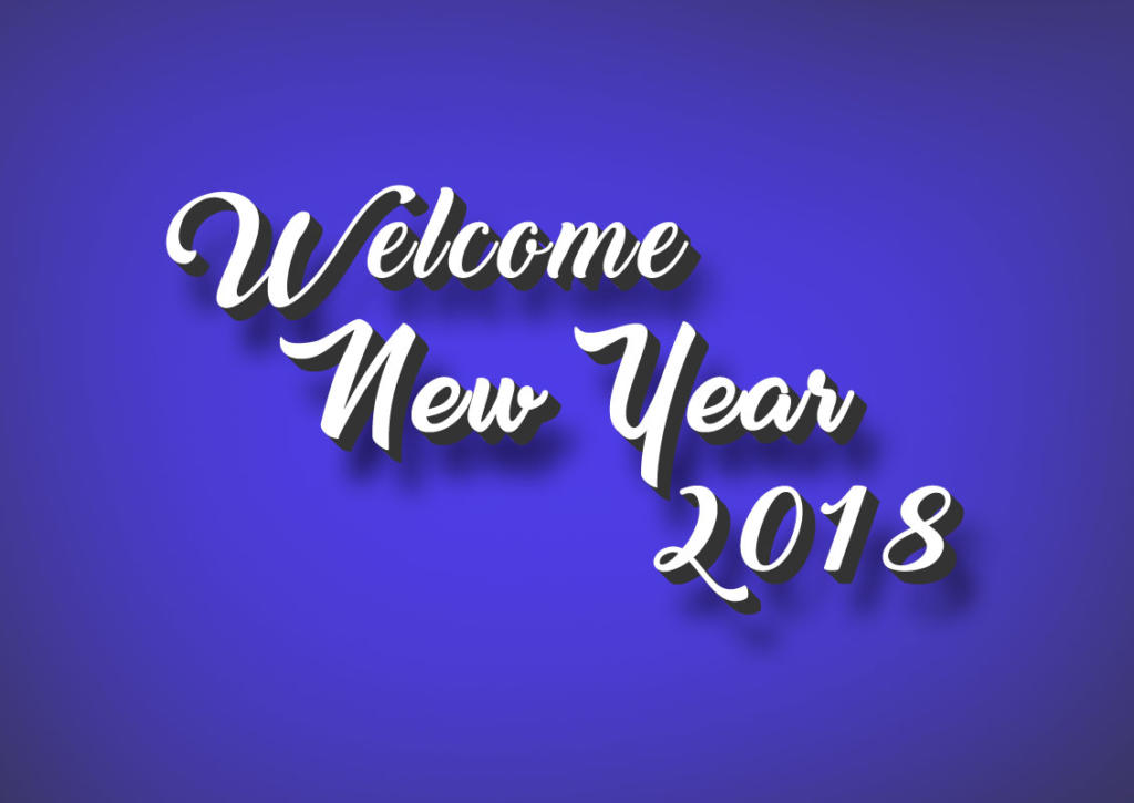 Goodbye 2017 Welcome 2018 New Year HD Image