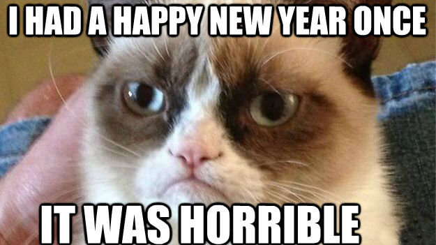 Happy New Year 2018 Funny Cate MEME