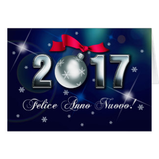 Happy New Year 2021 Greeting Card in Italian