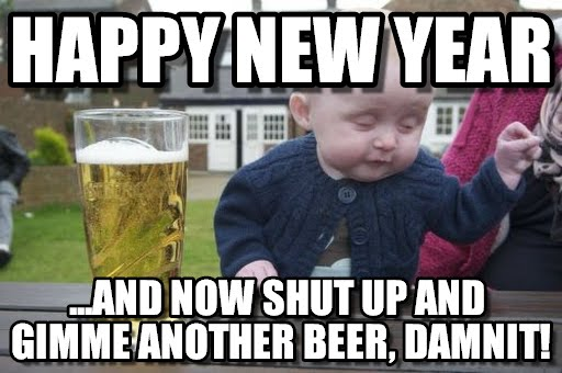 Happy New Year 2018 Party MEME