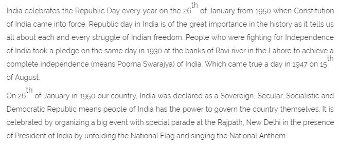 26th January Republic Day Essay in English