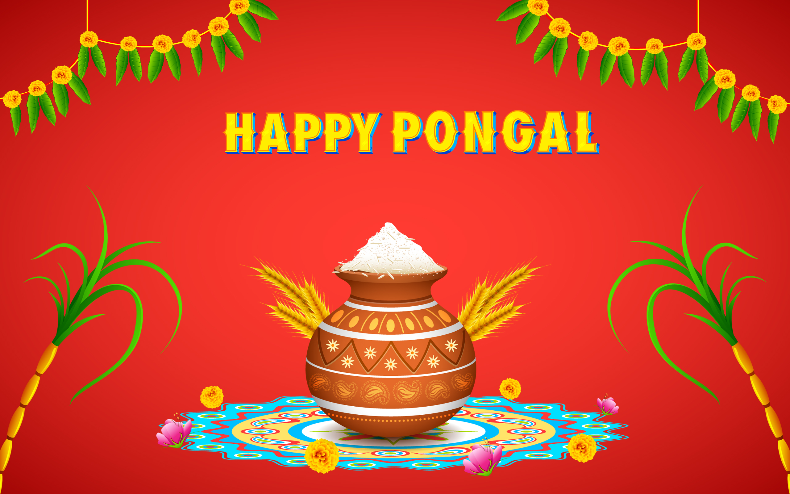 Happy Pongal 2018 HD Photo
